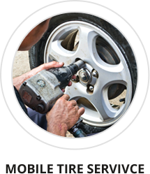 Mobile tire service in